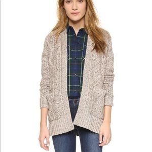 Madewell Cable Knit Oversized Cardigan Size Small